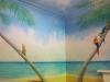 tropical island mural